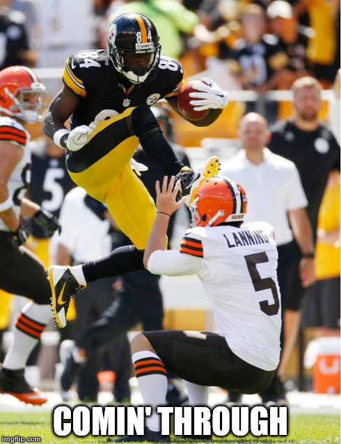 antonio brown kicks lanning