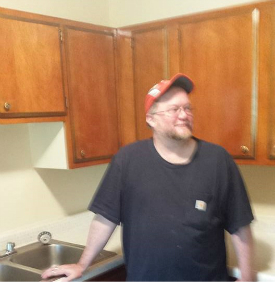 The author in his new kitchen.
